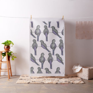 Impressão dos amigos do pombo tecido