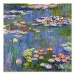 Impressão dos lírios de água 1916 de Monet Fotografias