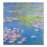 Impressão dos lírios de água amarela de Monet Impressão Fotográfica