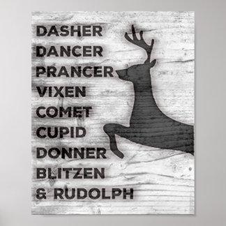 Impressão dos nomes da rena