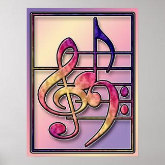 Impressão dos símbolos de música 2