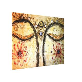 Impressão dourado 28x20 das canvas da aguarela dos