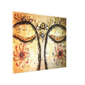 Impressão dourado das canvas da aguarela 24x18 do