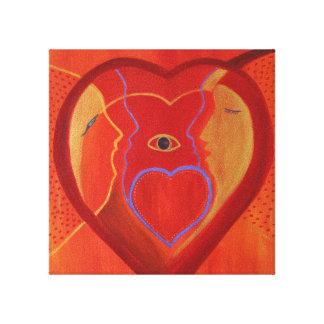 Impressão dourado do solteiro do coração