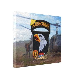 Impressão Em Canvas 101st Veterinários da guerra do vietname da