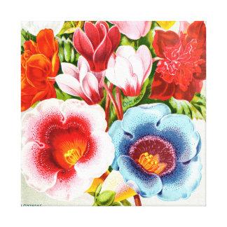 Impressão Em Canvas 1896 ilustrações florais brilhante