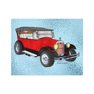 Impressão Em Canvas 1923 velhos que visitam, vermelho -