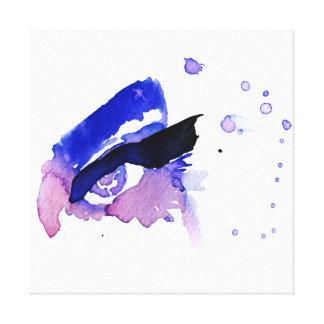Impressão Em Canvas A aguarela roxa eyes a marcagem com ferro quente
