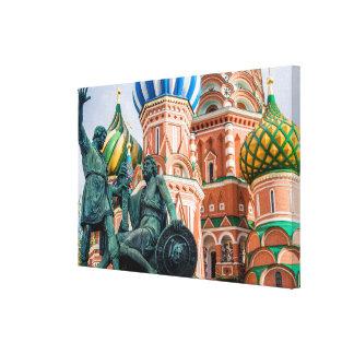 Impressão Em Canvas A basílica das manjericões da estátua e da rua