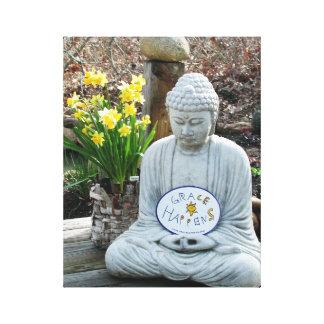 Impressão Em Canvas A benevolência acontece arte da parede de Buddha