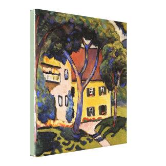 Impressão Em Canvas A casa de Staudacher do vintage no Tegernsee