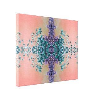 Impressão Em Canvas A cerceta lindo da lavanda cora as flores