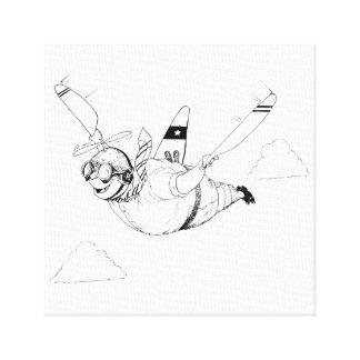 Impressão Em Canvas A é para o avião