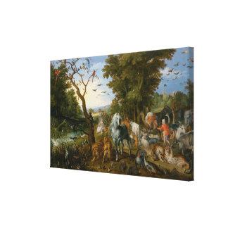 Impressão Em Canvas A entrada dos animais na arca de Noah