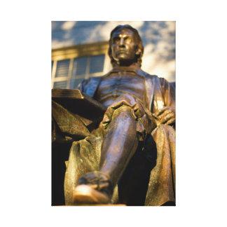 Impressão Em Canvas A estátua de John Harvard