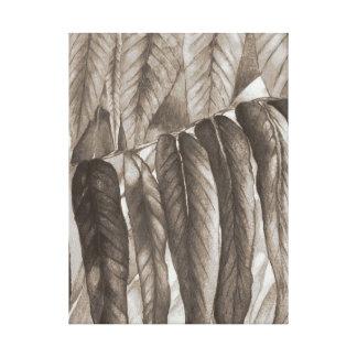 Impressão Em Canvas a folha do outono colore a arte moderna estilizado