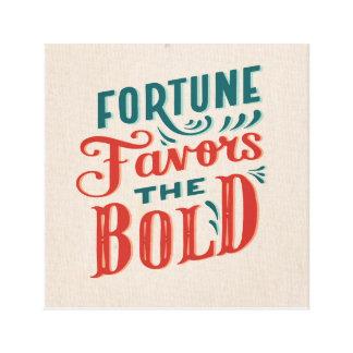 Impressão Em Canvas A fortuna favorece o design corajoso das citações