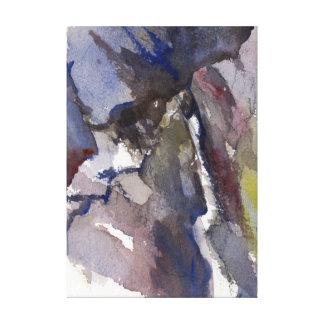 Impressão Em Canvas A garganta de caixa cai, Ouray, aguarela do CO