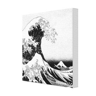Impressão Em Canvas A grande onda fora de Kanagawa (神奈川沖浪裏)