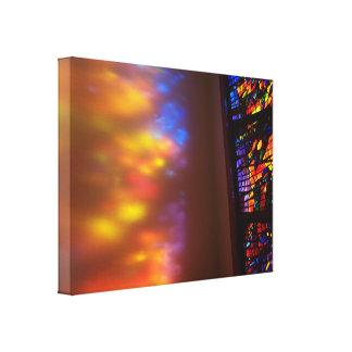 Impressão Em Canvas A janela à arte da fotografia do vitral do céu