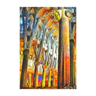 Impressão Em Canvas A mágica do Sagrada Familia
