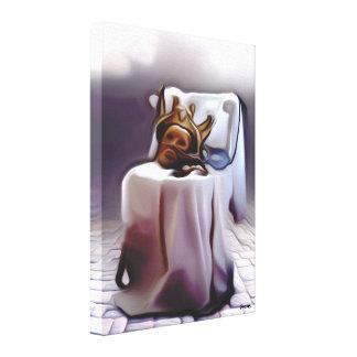Impressão Em Canvas A Máscara do rei de derretimento na cadeira -