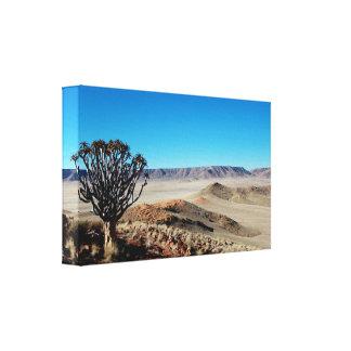 Impressão Em Canvas A paisagem namibiana surpreendente esticou o