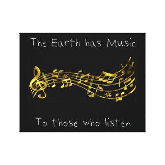 """Impressão Em Canvas """"A terra tem a música àquelas que escutam """""""