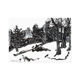 Impressão Em Canvas A vista do Central Park