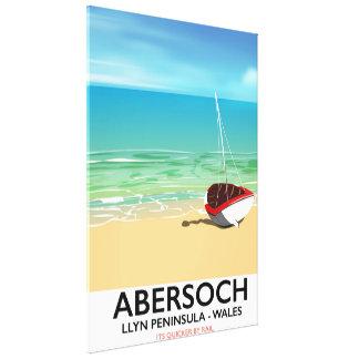 Impressão Em Canvas Abersoch, poster do feriado de Wales da península