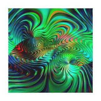 Impressão Em Canvas Abstrato 33 do verde esmeralda