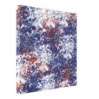 Impressão Em Canvas Abstrato da aguarela de América