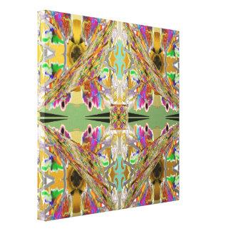 Impressão Em Canvas Abstrato em cores da jóia
