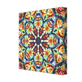 Impressão Em Canvas Abstrato geométrico colorido