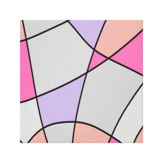 Impressão Em Canvas Abstrato Pastel lavado dos quadrados