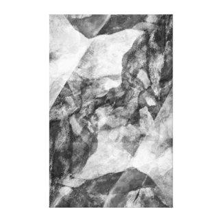 """Impressão Em Canvas Abstrato preto e branco de Digitas da """"garganta"""""""
