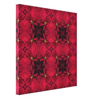 Impressão Em Canvas Abstrato vermelho 3 das poinsétias