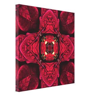 Impressão Em Canvas Abstrato vermelho 9 das poinsétias