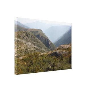 Impressão Em Canvas Adiante vale, região selvagem tasmaniana