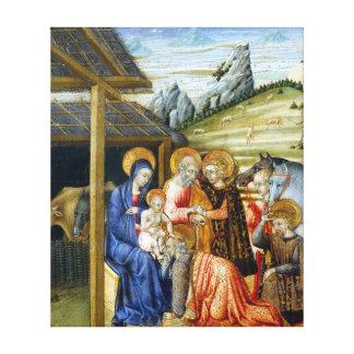 Impressão Em Canvas Adoração de Giovanni di Paolo dos Magi