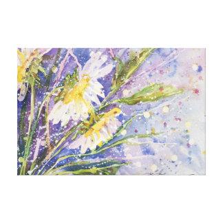 Impressão Em Canvas Aguarela ideal da margarida por Kathleen Gasparin