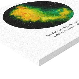 Impressão Em Canvas Aguarela original da pintura da constelação da