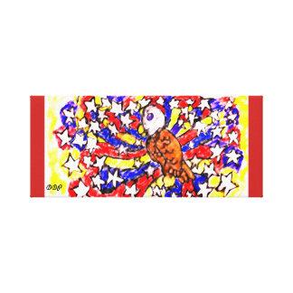 Impressão Em Canvas águia e estrela
