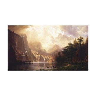 Impressão Em Canvas Albert Bierstadt - entre a serra Nevada, Califo