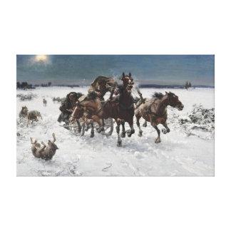 Impressão Em Canvas Alfred Kowalski levado a cabo por lobos