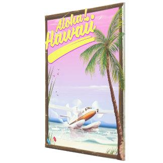 Impressão Em Canvas Aloha! Poster de viagens do estilo do vintage de