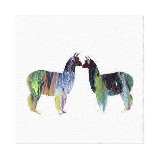 Impressão Em Canvas Alpacas