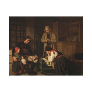 Impressão Em Canvas Amalia Lindegren - a última cama do pouco uma