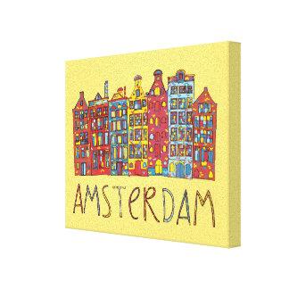 Impressão Em Canvas Amsterdão no mosaico