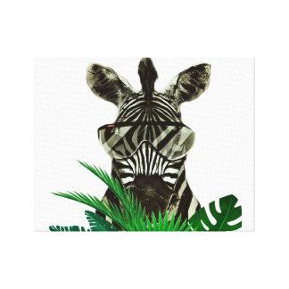 Impressão Em Canvas Animal do estilo da zebra do hipster